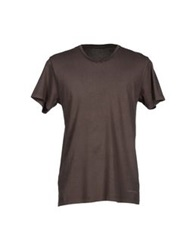 Massimo Rebecchi T Shirts Dark Brown