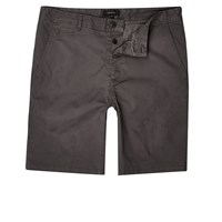 River Island Mens Dark Grey Slim Fit Casual Shorts