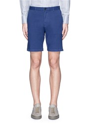 Theory 'Zaine S' Garment Dyed Slim Fit Shorts Blue