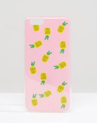 Signature Pineapple Print Iphone 6 Case Pink Yellow