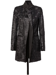 Ann Demeulemeester Textured Evening Coat Black
