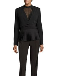 Yigal Azrouel Pleated Belted Blazer Black