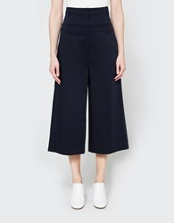 Tibi Mila Satin Cropped Pants Dark Navy