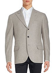 Brunello Cucinelli Wool Blend Jacket Almond
