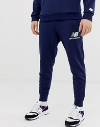 New Balance Slim Fit Joggers In Navy