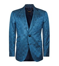Billionaire Curving Check Jacket Male Blue