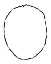 Stephen Webster Thorn Men's Beaded Onyx Necklace Silver