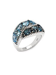 Effy Blue Topaz And Sterling Silver Ring