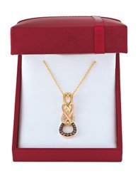 Levian Chocolatier Vanilla Diamonds Chocolate Diamonds And 14K Two Toned Gold Infinity Pendant Yellow Gold