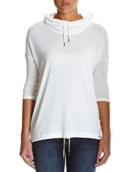 Bench Hooded Cowlneck Top Bright White