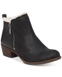Lucky Brand Women's Basel Fake Fur Lined Booties Women's Shoes Black