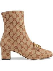 Gucci Gg Ankle Boot With Double G Neutrals