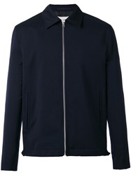 Our Legacy Casual Zip Jacket Men Viscose Virgin Wool 50 Blue