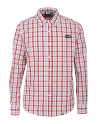 Jeep Checked Sportshirt Red