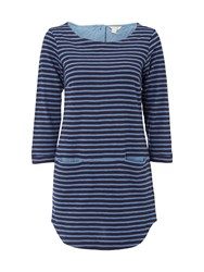 White Stuff Stripe You Jersey Tunic Navy