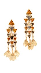 Tory Burch Triangle Chandelier Earrings Multi Tory Gold