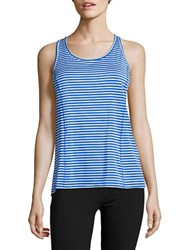 Calvin Klein Striped Performance Tank Top Blue