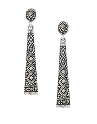 Lord And Taylor Marcasite Sterling Silver Drop Earrings