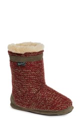 Woolrich Whitecap Knit Slipper Bootie Picante Fabric