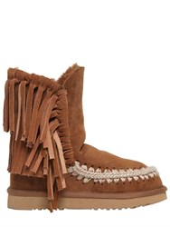 Mou 20Mm Eskimo Fringed Shearling Boots