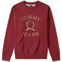 Tommy Jeans 6.0 Crest Crew Sweat M11 Red