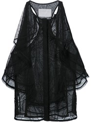Jason Wu Ruffled Racerback Blouse Black