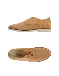 Pointer Footwear Lace Up Shoes Men Ocher