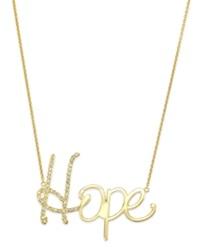 Sis By Simone I Smith Crystal Hope Pendant Necklace In 18K Gold Over Sterling Silver