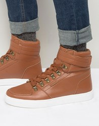 Rock And Religion High Top Trainers Tan