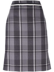 Thom Browne Checked Skirt Grey