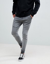 Your Turn Yourturn Jogger With Biker Detail In Grey