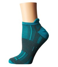 Wrightsock Stride Tab Ash Turquoise Low Cut Socks Shoes Green