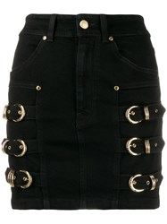 Versace Jeans Couture Buckle Embellished Mini Skirt 60