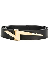 Giuseppe Zanotti Design Gz Flash Belt Black