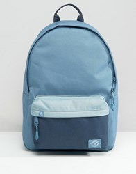 Parkland Vintage Backpack In Blue Colour Block 25L Blue Red