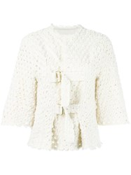 Sonia Rykiel Strapped Fitted Jacket Nude Neutrals