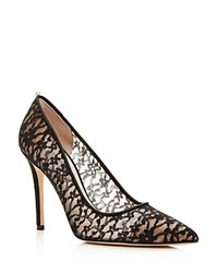 Sjp By Sarah Jessica Parker Gardner Lace Pointed Toe Pumps Ebony