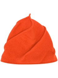 Le Chapeau Seam Detailing Beanie Yellow And Orange