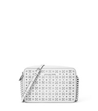 Jet Set Travel Large Perforated Leather Crossbody