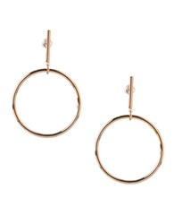 Bcbgeneration Wire Work Circular Hoop Earrings Gold