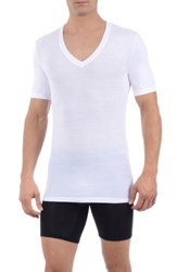 Tommy John Second Skin Micromodal Deep V Neck Undershirt White
