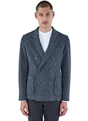 Lanvin Deconstructed Double Breasted Blazer Jacket Grey