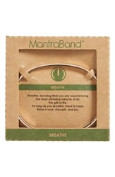 Mantraband Women's Breathe Engraved Cuff Rose Gold