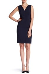 Hugo Boss V Neck Sleeveless Dress Blue
