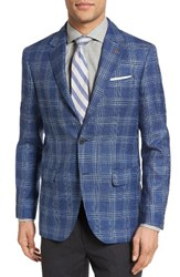Moods Of Norway Men's Sol Trim Fit Plaid Wool Blend Sport Coat