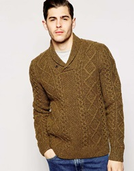 Levi's Shawl Knit Jumper Fisherman Cable Multi Fleck Novotexlitton