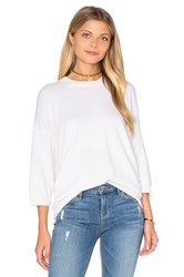 Vince 3 4 Sleeve Cashmere Pullover White