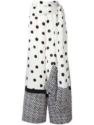 Oscar De La Renta Polka Dots Palazzo Pants White