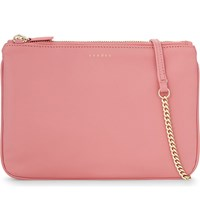 Sandro Addict Leather Cross Body Bag Rose Blush