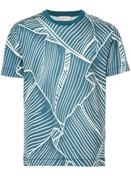 Cerruti 1881 Graphic Print T Shirt Blue